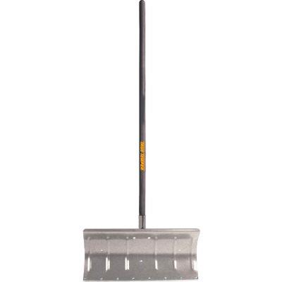 "TrueTemper® 1603500 24"" Aluminum Blade Snow Pusher Shovel W/ Straight Wood Handle"