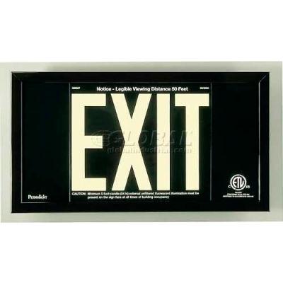 Black Aluminum Exit Sign Inside Black Aluminum Frame