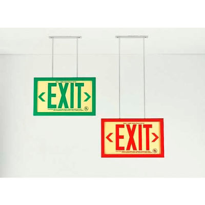 10-Inch Extended Ceiling Mount Bracket For Permalight® Framed Exit Signs
