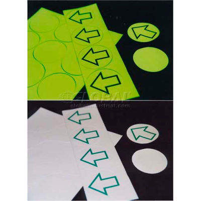 Photoluminescent Anti-Skid Dots With Green Arrow, 12 Dots Per Sheet