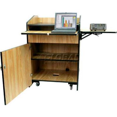 Non Sound Multimedia Presentation Plus Podium - Medium Oak