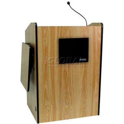 Multimedia Presentation Plus Podium With Sound - Medium Oak