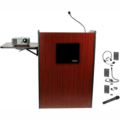 Wireless Multimedia Presentation Plus Podium - Mahogany
