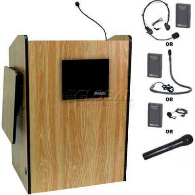 Wireless Multimedia Presentation Plus Podium - Medium Oak