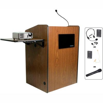 Wireless Multimedia Presentation Plus Podium - Walnut
