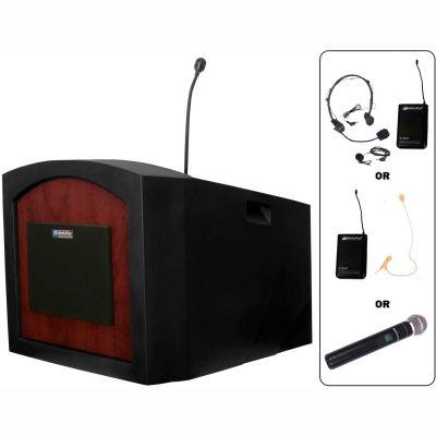 Wireless Pinnacle Tabletop Podium / Lectern - Mahogany