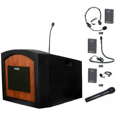 Wireless Pinnacle Tabletop Podium / Lectern - Medium Oak