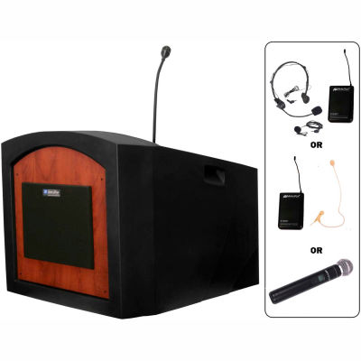 Wireless Pinnacle Tabletop Podium / Lectern - Cherry