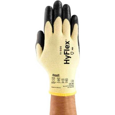 HyFlex® Cut Resistant Nitrile Coated Gloves, Ansell 11-500-10, 1-Pair