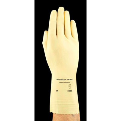 Ansell 88-392 VersaTouch® Canners & Handlers Natural Latex Gloves, Size 8, 1 Pair - Pkg Qty 12