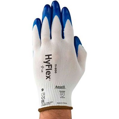 HyFlex®  Nitrile Coated Gloves, Ansell 11-900-7, 1 Pair - Pkg Qty 12