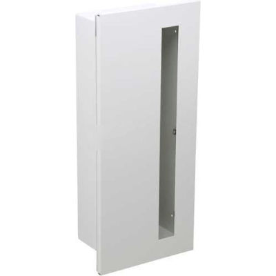 "Dana Extinguisher Cabinet, Duo-Vertical Panel, Stainless Steel, 9""L x 18""H x 5-3/4""W"