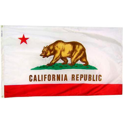 3X5 Ft. 100% Nylon California State Flag