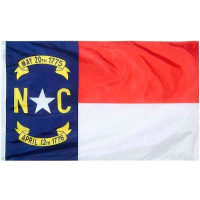 3X5 Ft. 100% Nylon North Carolina State Flag