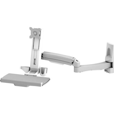 Dyconn WSM200 Wall Mounted Articulating Workstation with Full Size Keyboard Tray