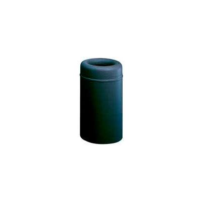 Rubbermaid® AOT30BK Crowne Open Top 30 Gallon Receptacle w/Plastic Liner - Black
