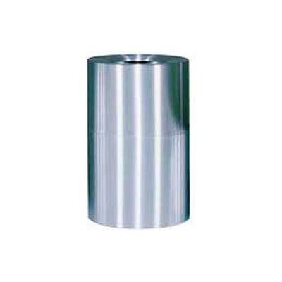 Rubbermaid AOT62SA Atrium® Aluminum Container Open Top 55 Gal. w/Plastic Liner - Satin Aluminum