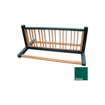 Polly Products 10 Position Bike Rack, Black/Green