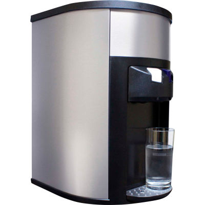 Aquaverve Bottleless Degree Commercial Countertop Cold Water Cooler W/Fltr Kit - Stainless Steel