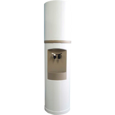 Aquaverve Bottleless Fahrenheit Model Commercial Cold Water Cooler W/ Filtration, White W/ Grey Trim