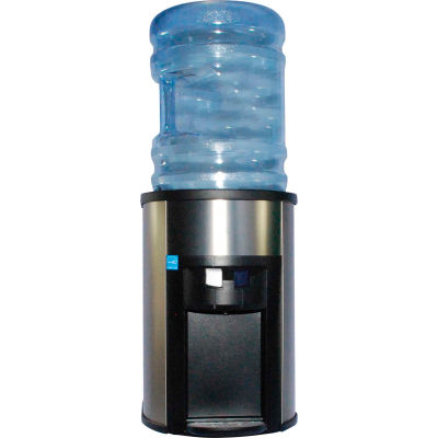 Aquaverve Degree Commercial Countertop RoomTemp/Cold Water Bottled Water Cooler-Stainless Steel