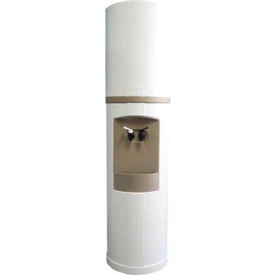 Aquaverve Fahrenheit Model Commercial Room Temp/Cold Bottled Water Cooler - White W/ Grey Trim