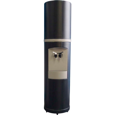 Aquaverve Fahrenheit Model Commercial Room Temp/Cold Bottled Water Cooler - Black W/ Grey Trim