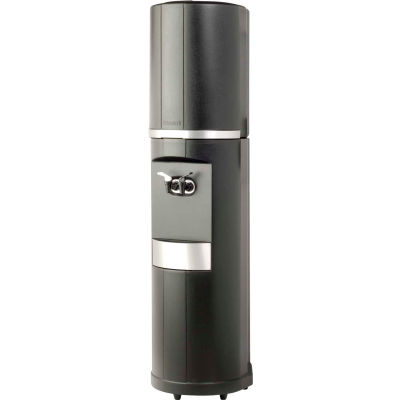 Aquaverve Fahrenheit Model Commercial Room Temp/Cold Bottled Water Cooler - Black Silver Trim