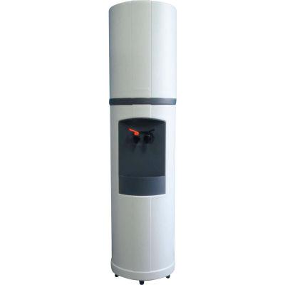 Aquaverve Fahrenheit Model Commercial Hot/Cold Bottled Water Cooler Dispenser- White W/ Blue Trim