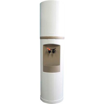 Aquaverve Fahrenheit Model Commercial Hot/Cold Bottled Water Cooler Dispenser - White W/ Grey Trim