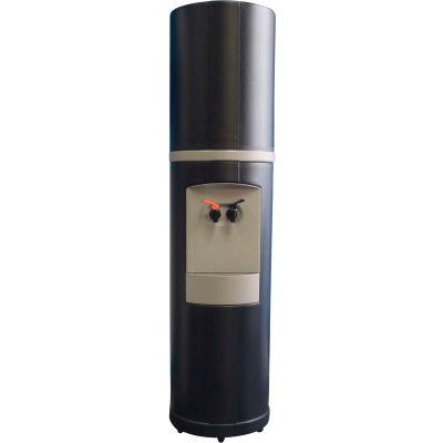 Aquaverve Fahrenheit Model Commercial Hot/Cold Bottled Water Cooler Dispenser - Black W/ Grey Trim