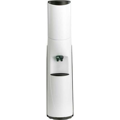 Aquaverve Pacifik Model Commercial Room Temp/Cold Bottled Water Cooler - White W/ Black Trim