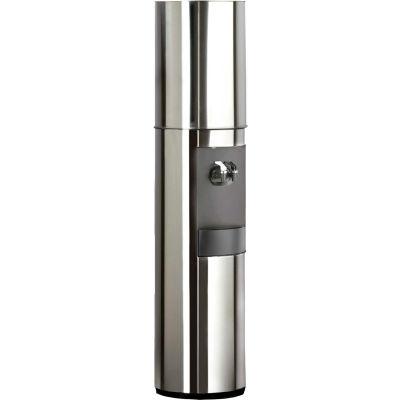 Aquaverve S2 Model Polished Stainless Steel Commercial Room Temp/Cold Bottled Water Cooler Dispenser