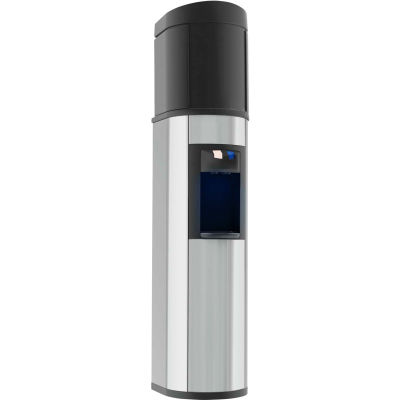 Aquaverve Absolu Model Commercial Room Temp/Cold Bottled Water Cooler - Stainless Steel W/Black Trim