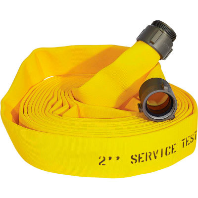 """Armored Textiles N51H175LNY50N JAFLINE Double Jacket Fire Hose, 1-3/4"""" X 50 Ft, 400 PSI, Yellow"""