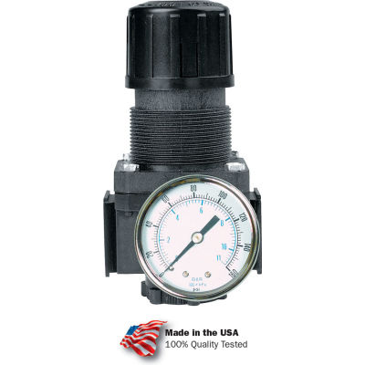 "Arrow Tri-Star Regulator R353g, Aluminum, 3/8"" Npt, 250 Psi"