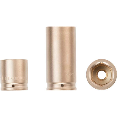 """AMPCO® DWI-1/2D15/16 Non-Sparking Deep Well Impact Socket, 1/2"""" Drive, 15/16"""""""