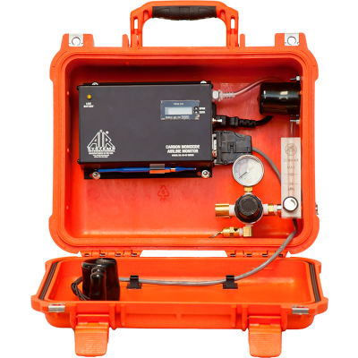 Air Systems Portable CO Monitor for Continuous In-Line Monitoring of Breathing Air, CO91-14LAC