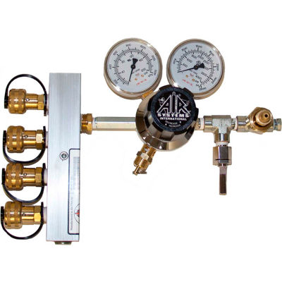 Air Systems International 4-Outlet Breathing Air Regulator/Manifold, 3000 PSI, Schrader, HP-CW1-346