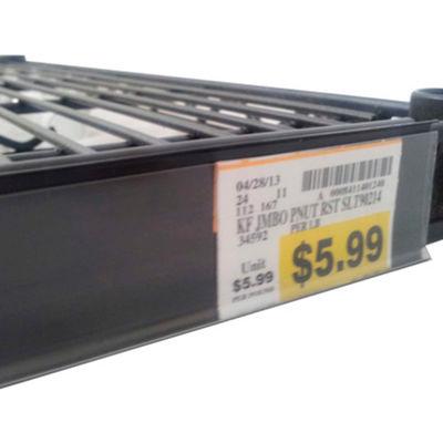 "Data Strip for Nexel Style Shelf Ticket Holder 45"" x 1.25""H Black - Pkg Qty 50"
