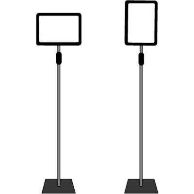 "Adjustable Poster Stand Sign Holder 11""W x 7""H Black/Chrome"