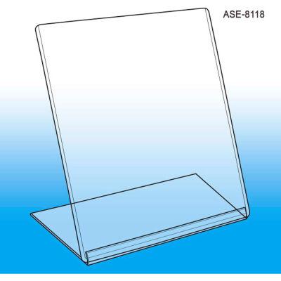 "Affordable Slanted Style Easel Sign Frame, 8-1/2""W X 11""H - Pkg Qty 5"