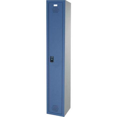 ASI Storage Traditional Plastic Locker 11-911215600 - Single Tier 12 x 15 x 60 1-Wide Burgundy