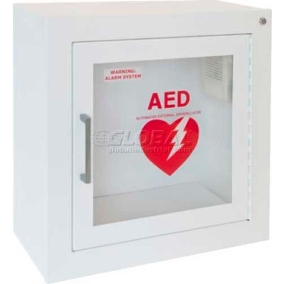 AED Cabinet Surface Mount, 85 db Audible Alarm, Steel