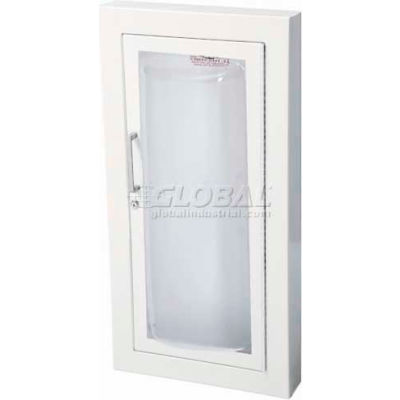 "Fire Extinguisher Cabinet, Clear Acrylic Bubble With1.5"" Square Trim, Semi-Recessed,"