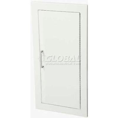 """Fire Extinguisher Cabinet, Solid Door, Fully Recessed 5.5""""D, Steel"""