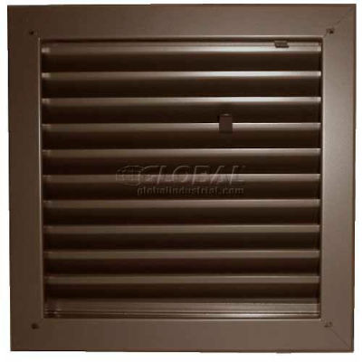 "Fire-Rated Door Louver 1900A1812B, Adjustable Z-Blade, Self-Attach, 18"" X 12"", Bronze"