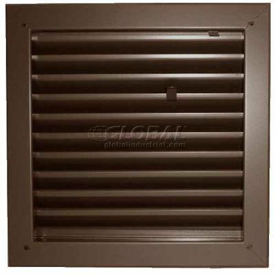 "Fire-Rated Door Louver 1900A2412B, Adjustable Z-Blade, Self-Attach, 24"" X 12"", Bronze"