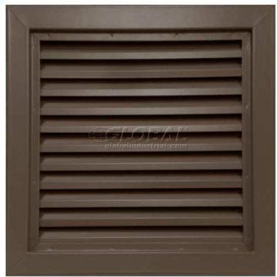 "Steel Door Louver 800A11212B, Inverted ""Y"" Blades, 50% Free Area, 12"" X 12"", Bronze"