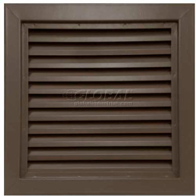 "Steel Door Louver 800A11812B, Inverted ""Y"" Blades, 50% Free Area, 18"" X 12"", Bronze"